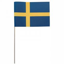 Flagga på träpinne, Sverige