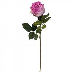 Ros på stjälk, rosa, 60 cm, konstgjord blomma