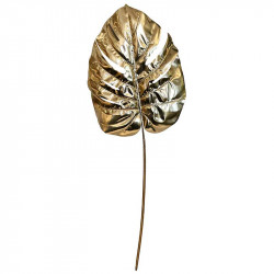 Monsterablad, guld, 72 cm, konstgjord växt