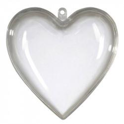 Hjärta i 2 delar, 10 cm