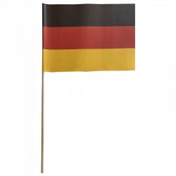 Flagga på träpinne, Tyskland