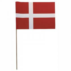 Flagga på träpinne, Danmark