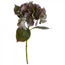 Hortensia, urtvättad lila, 47cm, konstgjord blomma