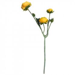 Ranunkelblomma, gul, 48 cm, konstgjord blomma