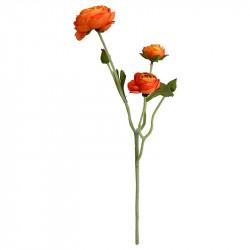 Ranunkelblomma, orange, 48 cm, konstgjord blomma
