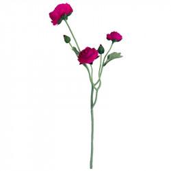 Ranunkelblomma, pink, 48 cm, konstgjord blomma