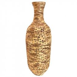 Gulv vase i akacietræ, mosaik mønster, tåler ikke vand, 95cm