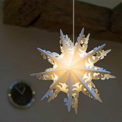 Snöflinga: Ursalight 109 till ljus och 3 m ledning D: 60 cm
