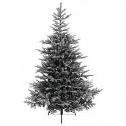 Grandis snöig gran med metallfot, 210 cm, konstgjord gran