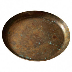 Metallbricka, 28 cm, med kant