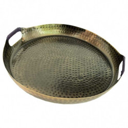 Metallbricka med handtag, 42 cm