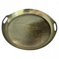Metallbricka med handtag, 52 cm