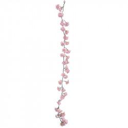 Körsbärsgren, girlang, Rosa, 165 cm, Konstgjord Blomma