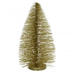 Juletræ i guld m glitter, 22cm, kunstig juletræ