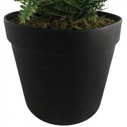 Ormbunke i svart kruka, 60 cm, konstgjord växt