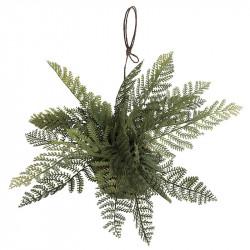 Hängande ormbunke suckulent med mosskula, konstgjord växt