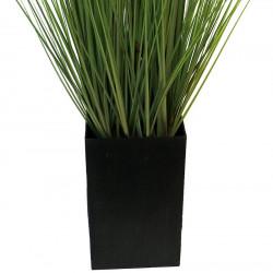 Gräs i svart kruka, 150 cm, konstgräs
