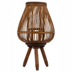 Handgjord lykta på ben av bambu, 31cm