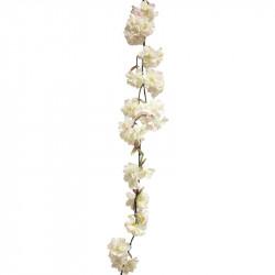 Körsbärsgren, girlang, Crème/rosa, 165 cm, Konstgjord Blomma