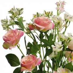 Sommarbukett, 52 cm, rosa / cremefärgade blommor,konstgjord a