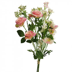 Sommarbukett, 52 cm, rosa / cremefärgade blommor,konstgjord a blommor