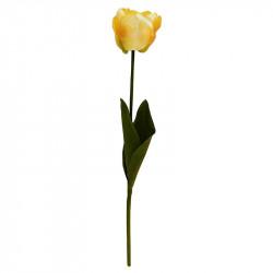 Tulpan på stjälk, 46 cm gul, konstgjord blomma