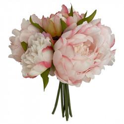 Pion bukett, rosa, 29 cm, Konstgjord Blomma