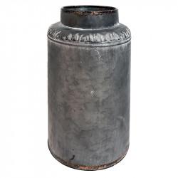 Zinkvas, Ø16cm, ljusgrå