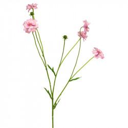 Blåklint, 5 blommor och 2 knoppar, Rosa, konstgjord blomma