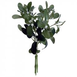 Misteltens buket, 3 grene, 35cm, kunstig plante