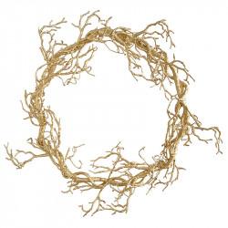 Guld grenkrans, 61cm, kunstig grene
