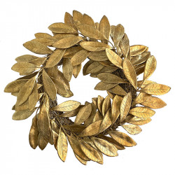 Krans i guld, 40cm, kunstig gren