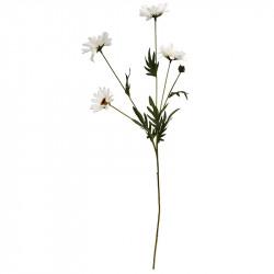 Margerit, fem grenar m 4 vita blommor, H80cm, konstgjordblo mma