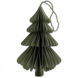 Juletræ i papir m ophæng, grøn, 15cm