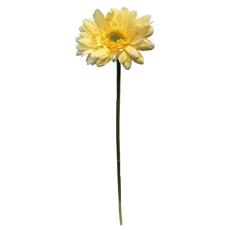 Gerbera på stjälk, 48 cm Gul, konstgjord blomma