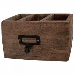 Förvaringslåda, 3 fack, trä