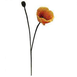 Vallmo, Orange 60 cm, konstgjord blomma
