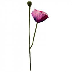 Vallmo, Rosa, 60 cm, konstgjord blomma