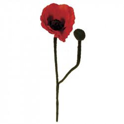 Vallmo, Röd, 60 cm, konstgjord blomma