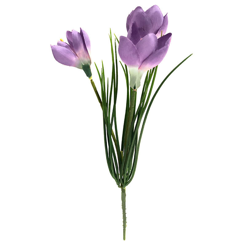 Krokus på stjälk, Ljuslila, konstgjord blomma