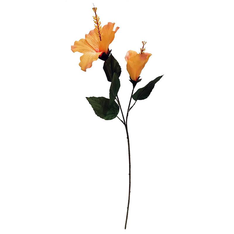 Hibiscus på stam/Hawaii-blomma, 74 cm, Gul, konstgjordblomma