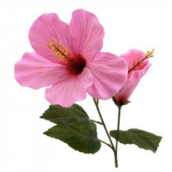 Hibiskus/Hawaii-blomma, 74 cm, rosa, konstgjord blomma