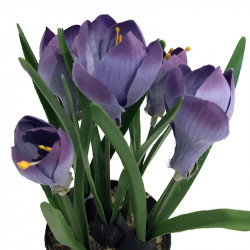 Krokus i kruka, Lila 24 cm, konstgjord blomma