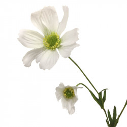 Rosenskära-kvist, 69 cm Vit, Konstgjord blomma