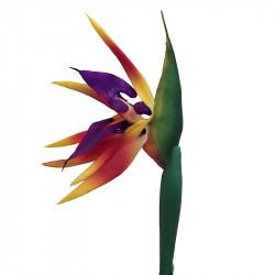 Papegojblomma/Paradisfågelblomma, 81 cm, konstgjord blomma