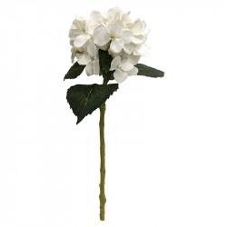 Hortensia, 48 cm vit, konstgjord blomma
