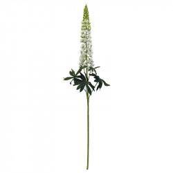 Lupin, vit, 105 cm, konstgjord blomma