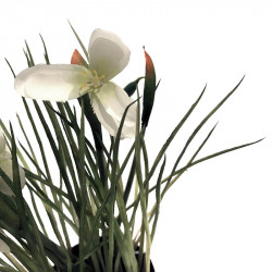 Snödroppe i svart kruka, 24 cm, konstgjord växt