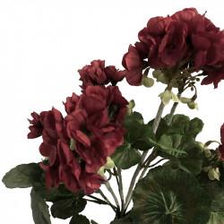 Pelargonie, 35 cm Röd, konstgjord bukett