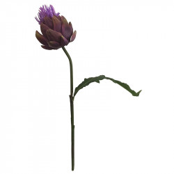 Kronärtskocks-blomma, 62 cm, konstgjord blomma